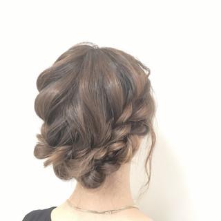ゆるふわ ヘアアレンジ 編み込み 愛され ヘアスタイルや髪型の写真・画像 ヘアスタイルや髪型の写真・画像