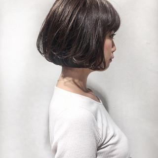 ストリート ボブ ヘアアレンジ 切りっぱなし ヘアスタイルや髪型の写真・画像 ヘアスタイルや髪型の写真・画像