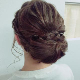 セミロング 編み込み ショート ストリート ヘアスタイルや髪型の写真・画像