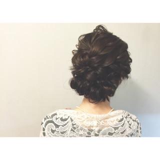 簡単ヘアアレンジ ヘアアレンジ セミロング まとめ髪 ヘアスタイルや髪型の写真・画像