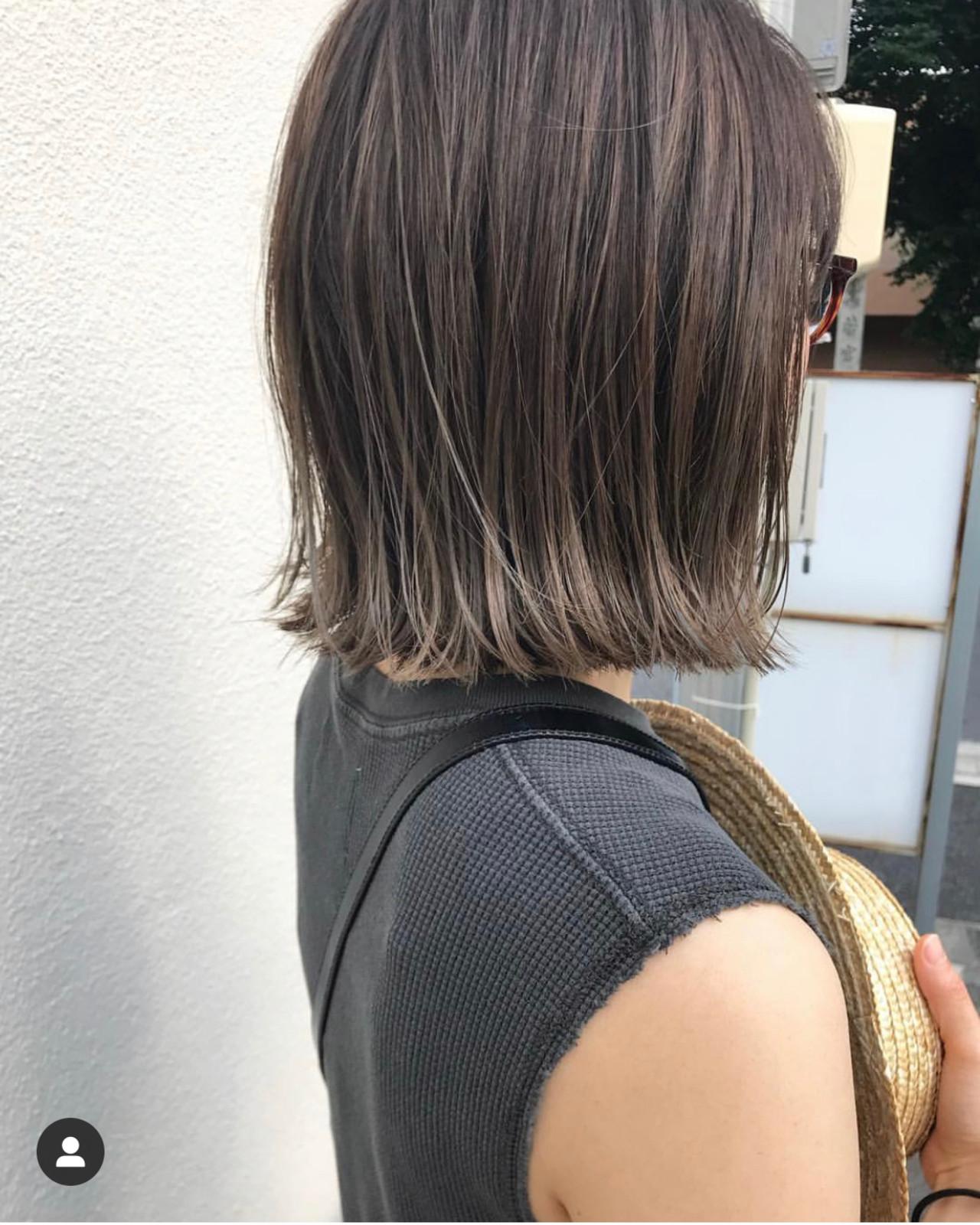 切りっぱなしボブ ショートヘア ミニボブ ボブ ヘアスタイルや髪型の写真・画像   KENTO.NOESALON / NOE SALON