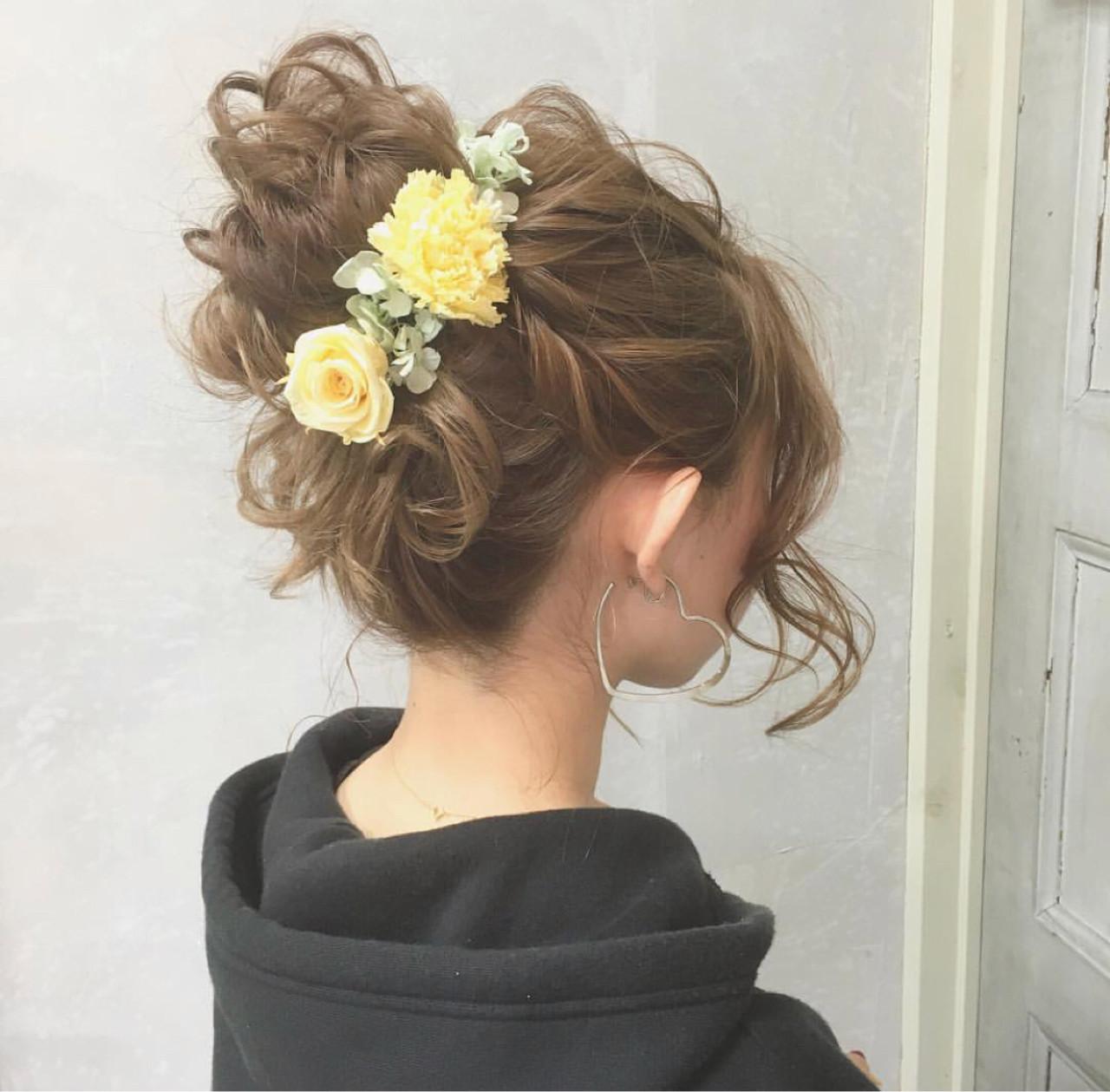 結婚式 ヘアアレンジ 成人式 女子力 ヘアスタイルや髪型の写真・画像