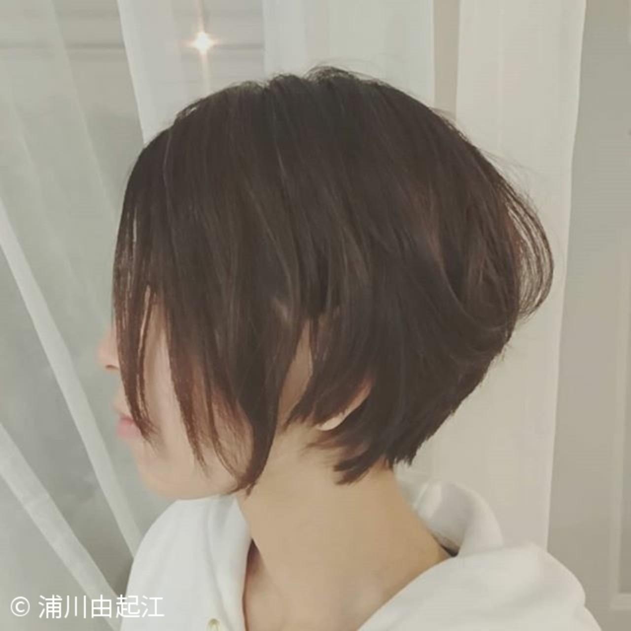 ショート ゆるふわ モード 大人かわいい ヘアスタイルや髪型の写真・画像 | 浦川由起江 / nanon
