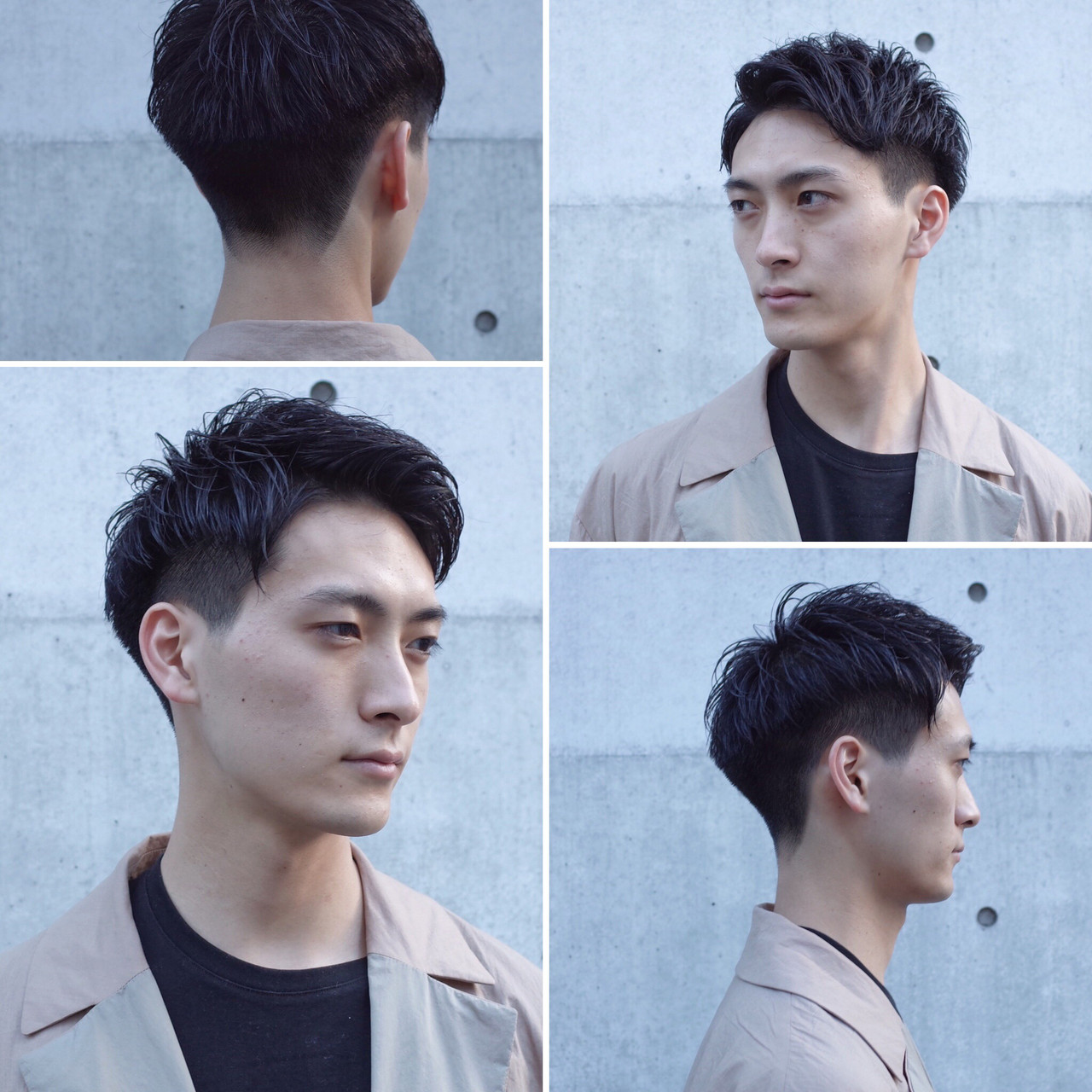 ツーブロック ショート 刈り上げ ナチュラル ヘアスタイルや髪型の写真・画像