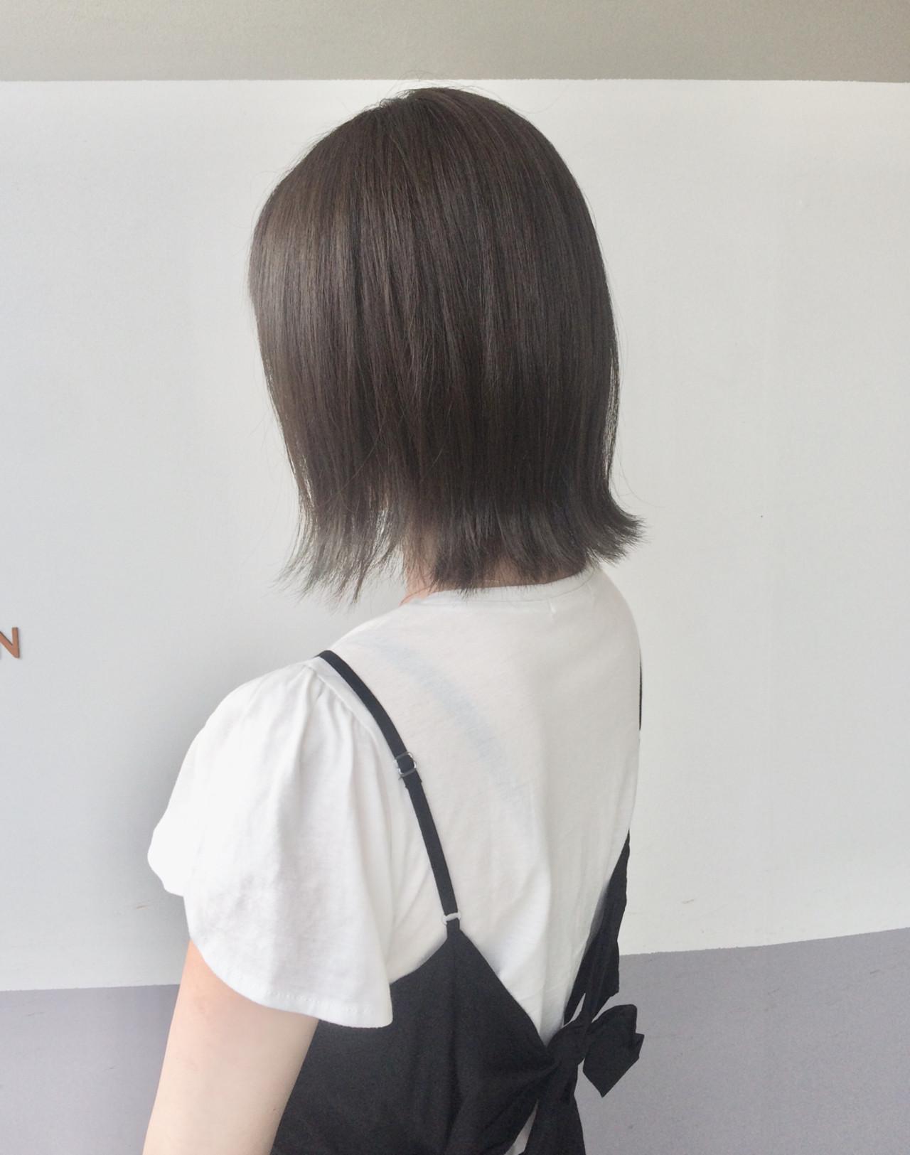 オフィス デート ボブ ナチュラル ヘアスタイルや髪型の写真・画像 | マスダ トシエ / lafit