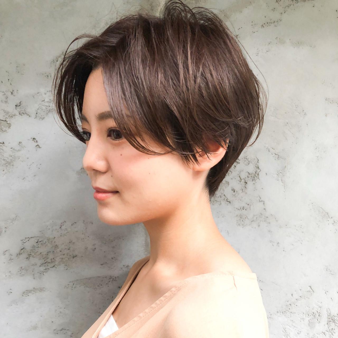 ショートボブ デジタルパーマ ショート ショートヘア ヘアスタイルや髪型の写真・画像