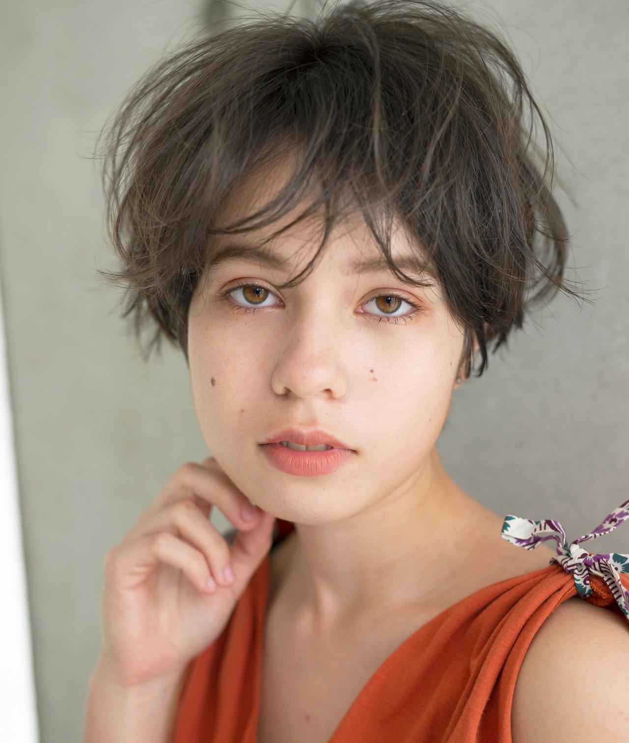 マッシュショート マッシュ アンニュイほつれヘア ショート ヘアスタイルや髪型の写真・画像 | 佐脇 正徳 / LOAVE AOYAMA(ローヴ アオヤマ)
