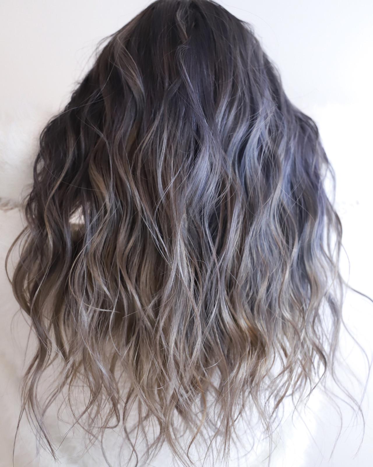 ハイトーン ロング ヘアアレンジ ハイライト ヘアスタイルや髪型の写真・画像 | 今西優 / scissors
