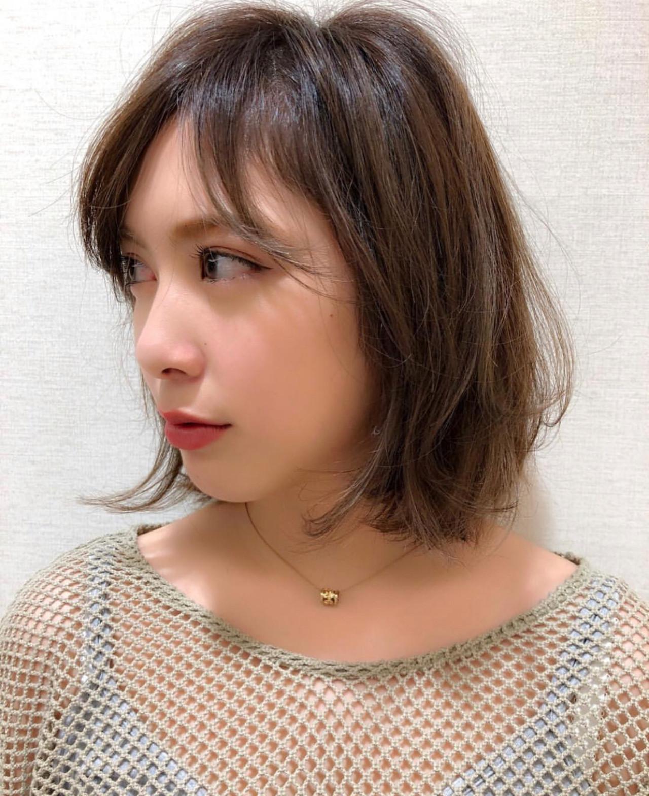 ハイライト 簡単スタイリング 大人かわいい フェミニン ヘアスタイルや髪型の写真・画像