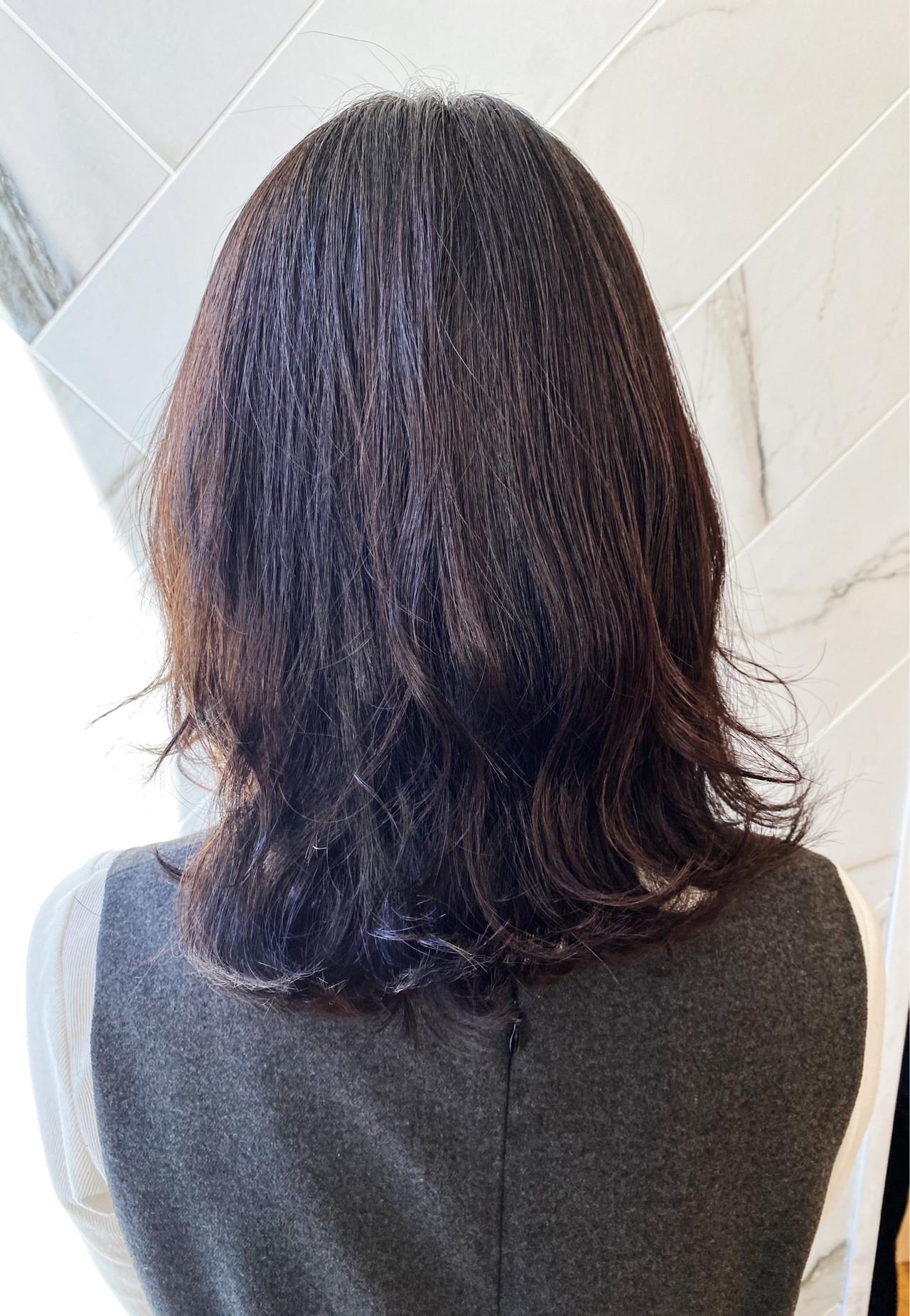 髪質改善 伸ばしかけ ミディアム ナチュラル ヘアスタイルや髪型の写真・画像 | 髪質改善、モテ髪カットのプロ!Zina出口耕太郎 / Zina CENTRAL