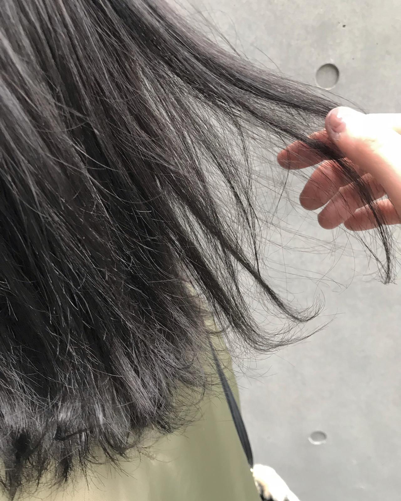 アッシュグレージュ グレー グレージュ 外国人風カラー ヘアスタイルや髪型の写真・画像