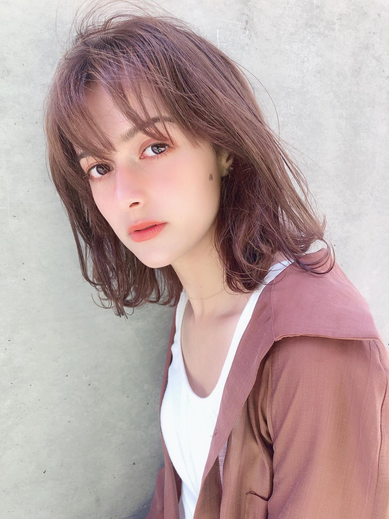 ナチュラル デート スポーツ ミディアム ヘアスタイルや髪型の写真・画像   北村 亮 / Lano by HAIR