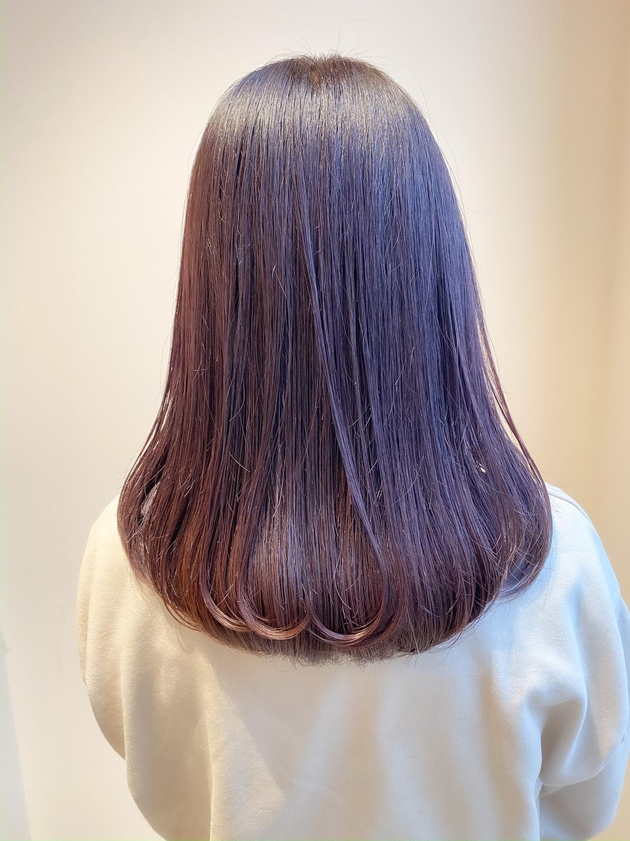 ラベージュ ブリーチなし 暗髪女子 ピンクラベンダー ヘアスタイルや髪型の写真・画像   村西 郁人 / rue