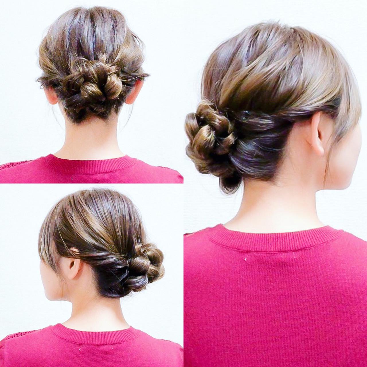 三つ編み フェミニン ロング ヘアアレンジ ヘアスタイルや髪型の写真・画像