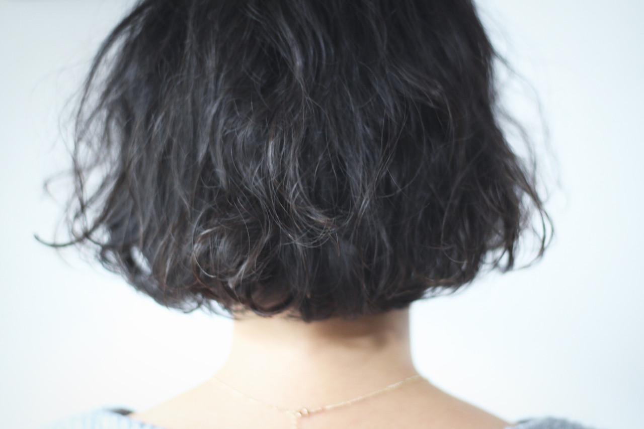 ボブ ワンカールパーマ パーマ ナチュラル ヘアスタイルや髪型の写真・画像
