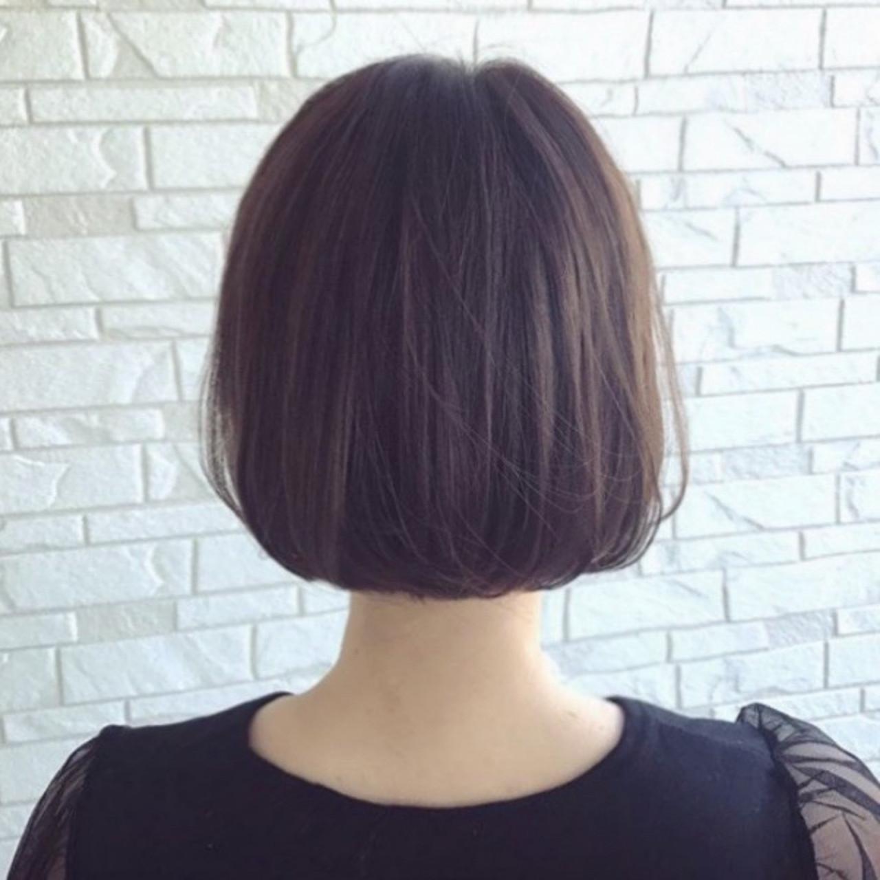 切りっぱなしボブ ミニボブ ボブ ベージュ ヘアスタイルや髪型の写真・画像   谷川 未来 / Lauburu bat.hair渋谷2号店