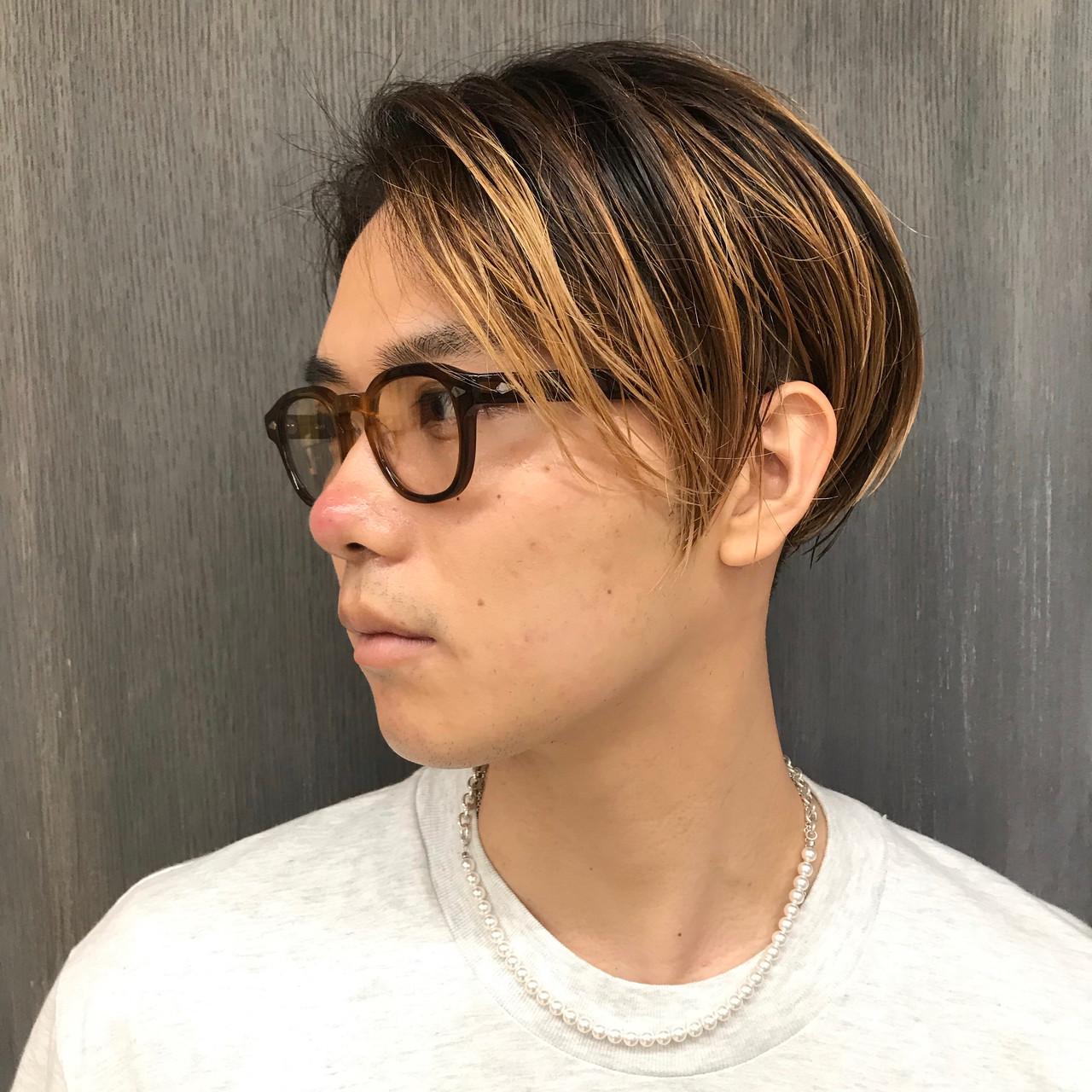 メンズヘア メンズパーマ ミディアム メンズカラー ヘアスタイルや髪型の写真・画像