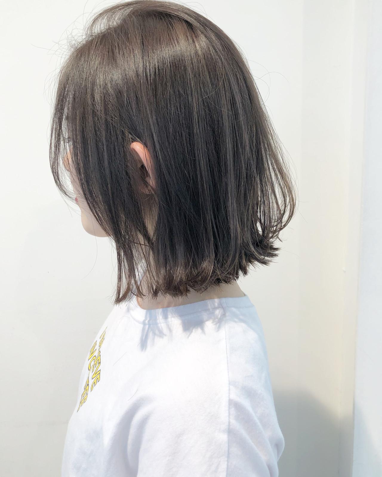 ボブ ショートボブ 透明感 外ハネ ヘアスタイルや髪型の写真・画像