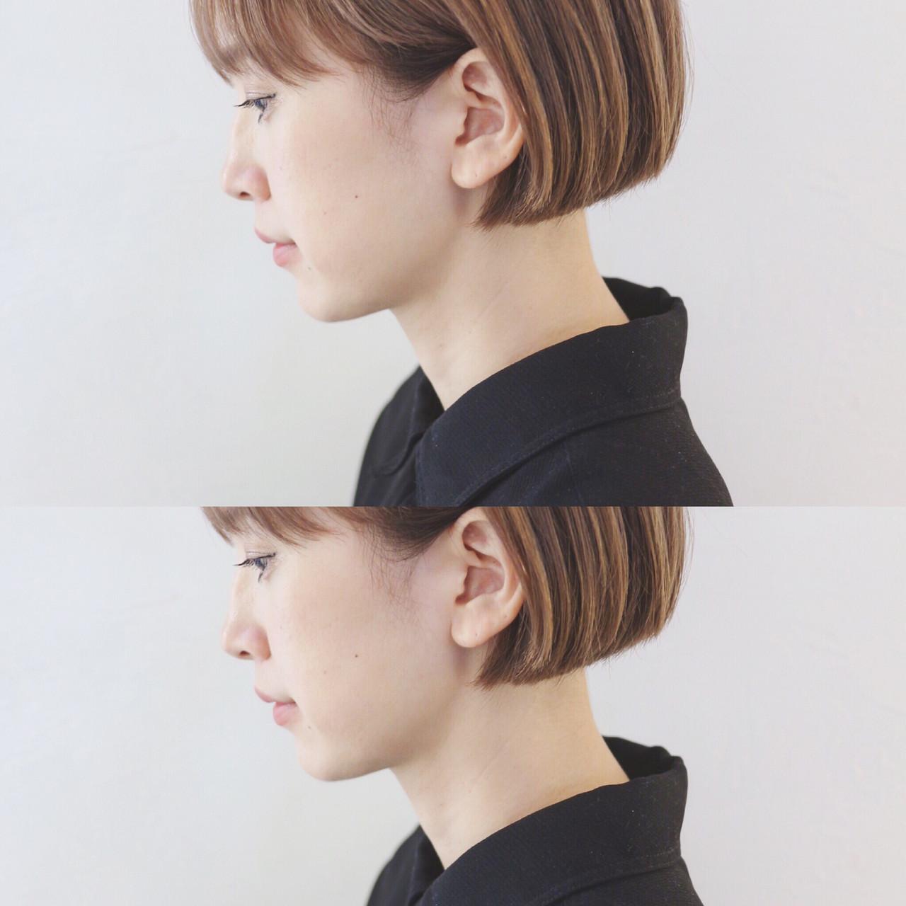 ミニボブ ボブ ハイトーン ショートヘア ヘアスタイルや髪型の写真・画像