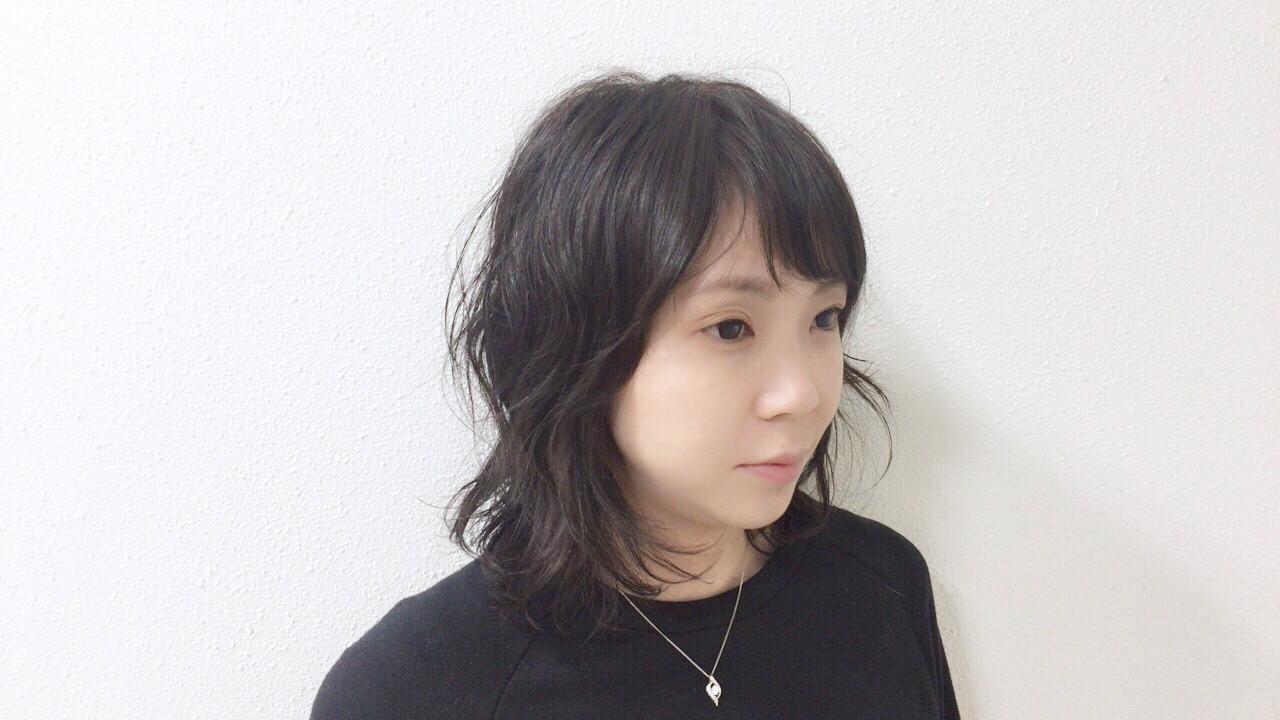 パーマ オフィス ナチュラル アンニュイほつれヘア ヘアスタイルや髪型の写真・画像 | Taniguchi Yukiko / IRODORI hair design