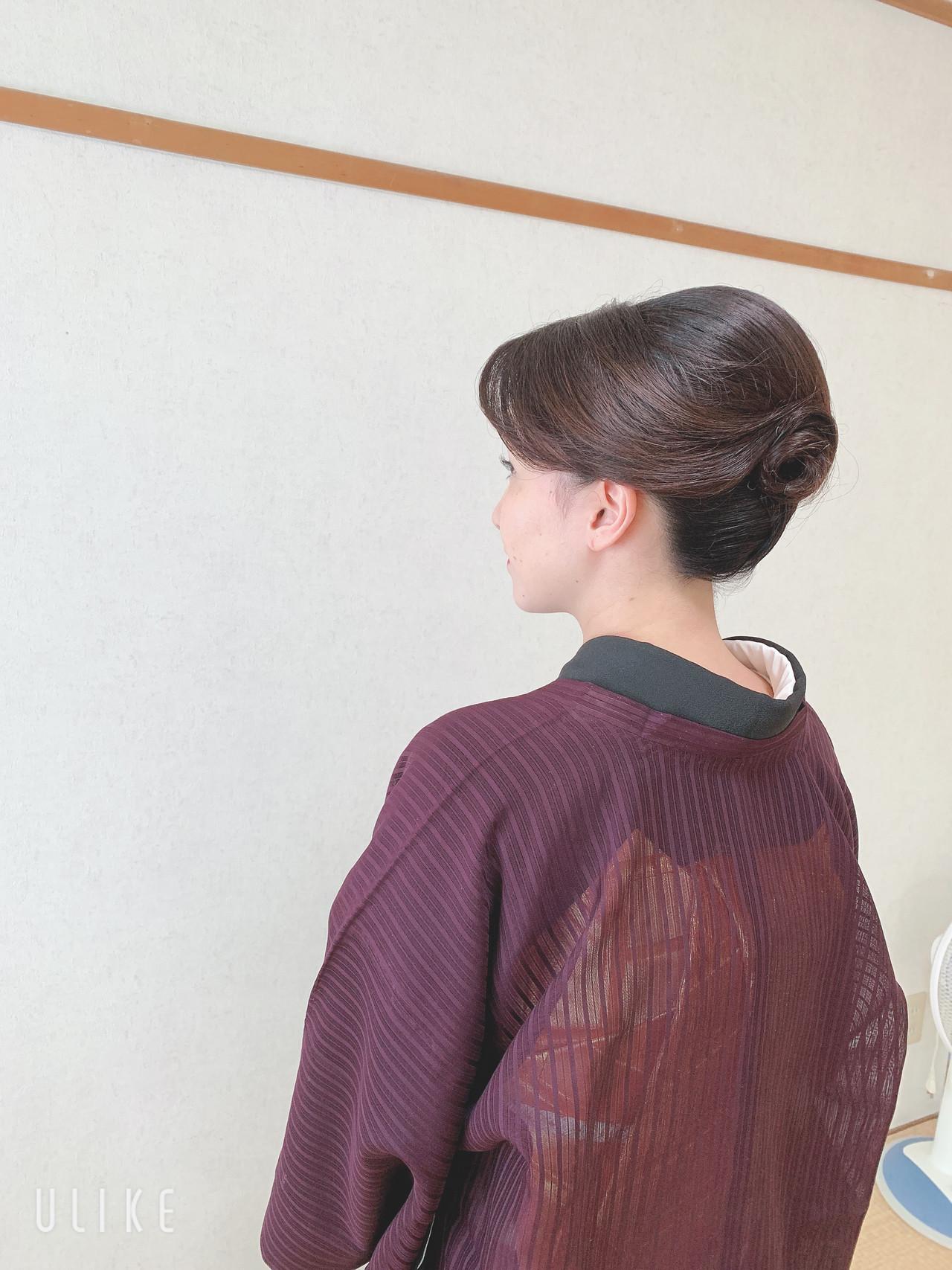 お呼ばれ 結婚式 エレガント 訪問着 ヘアスタイルや髪型の写真・画像