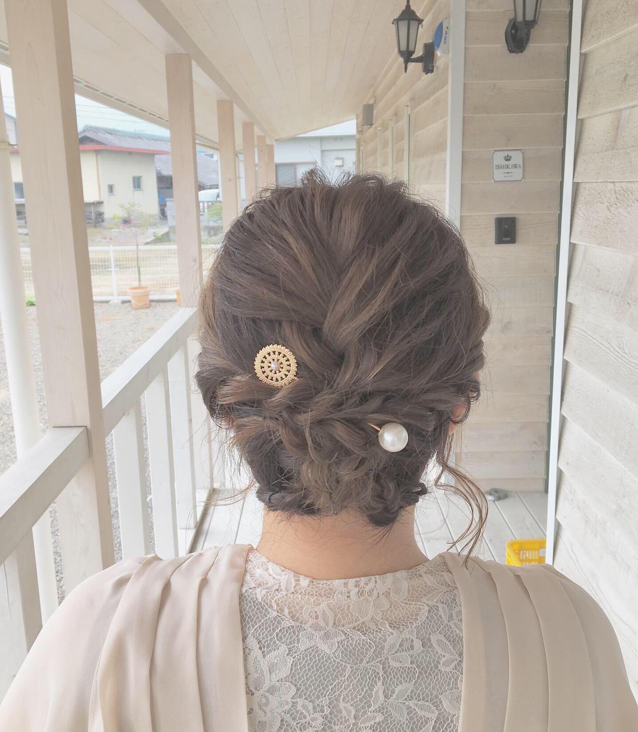 結婚式 成人式 ナチュラル ボブ ヘアスタイルや髪型の写真・画像 | MOMOKO / HairworksZEAL