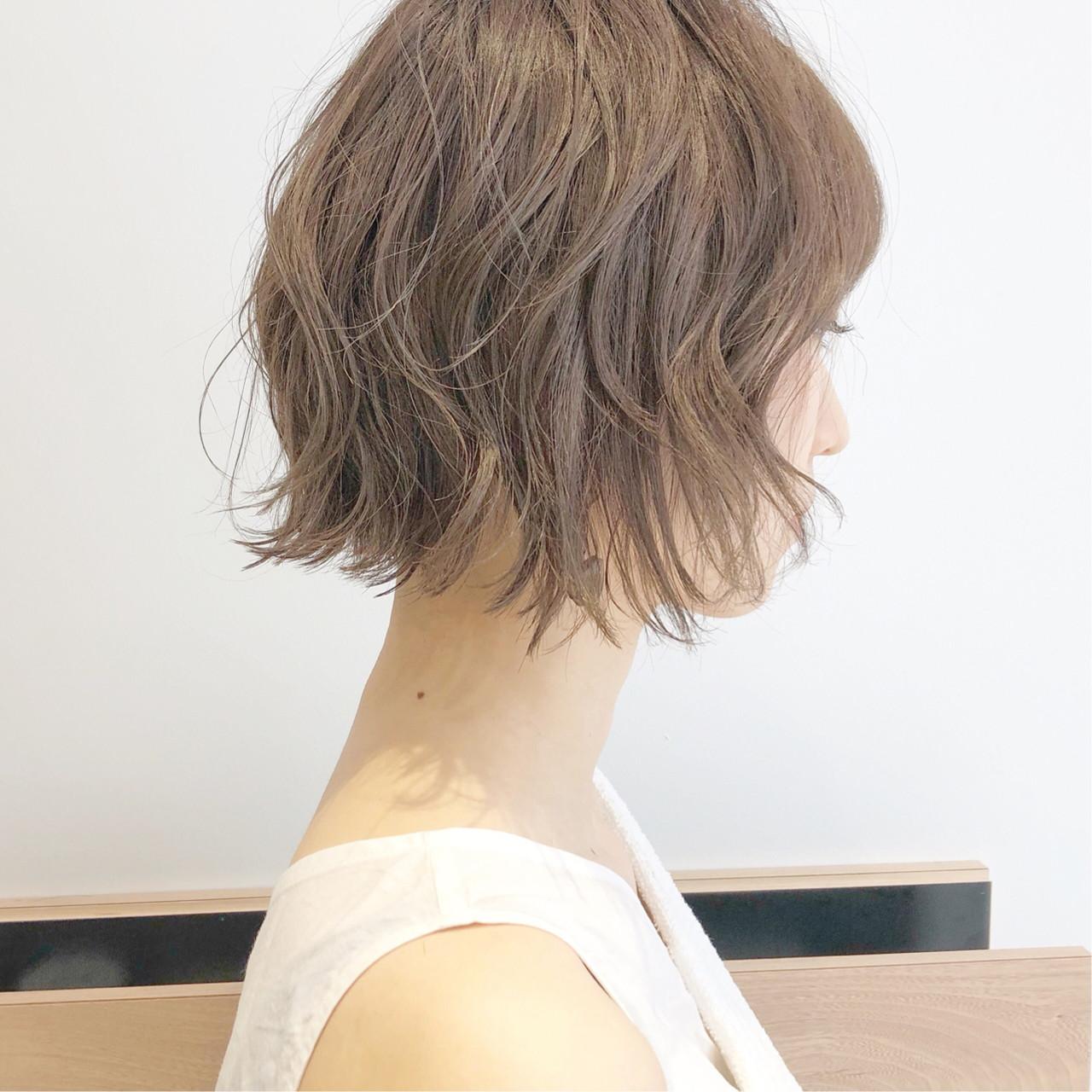 ショートヘア ナチュラル ボブ ショートボブ ヘアスタイルや髪型の写真・画像