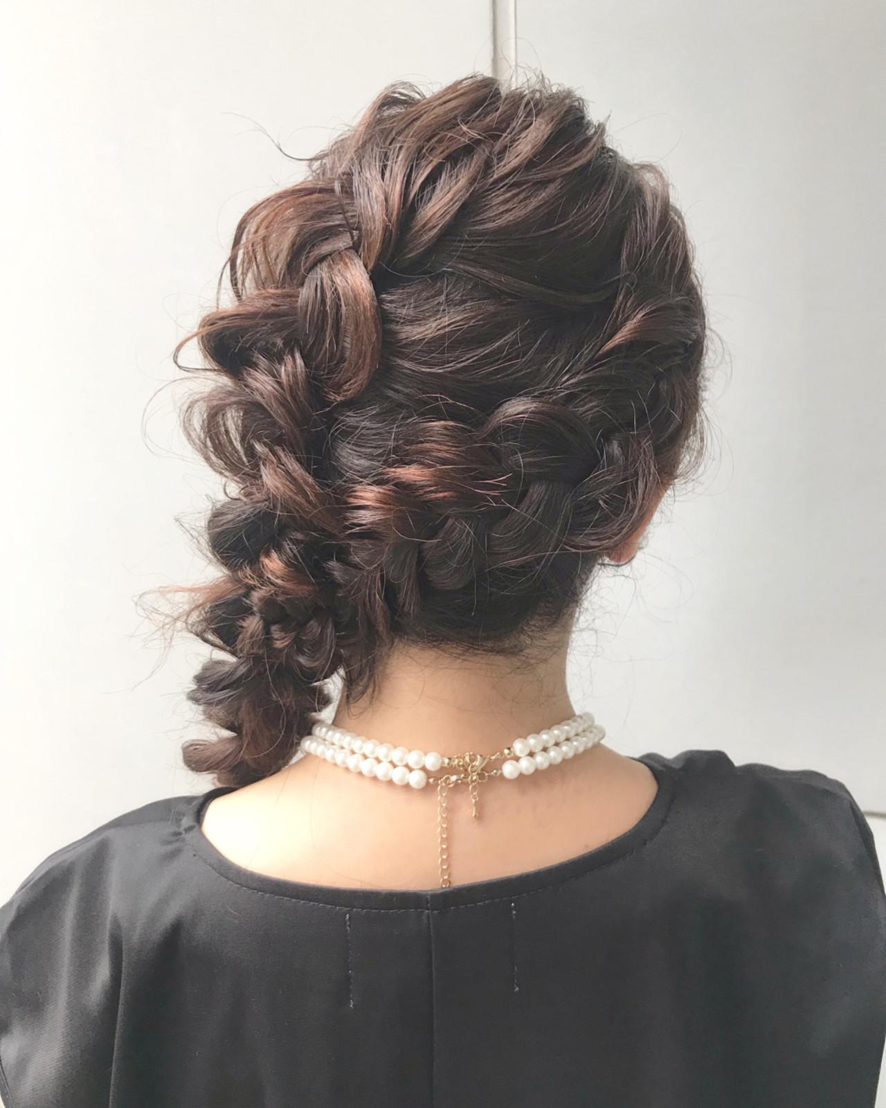 デート 簡単ヘアアレンジ ロング パーティ ヘアスタイルや髪型の写真・画像