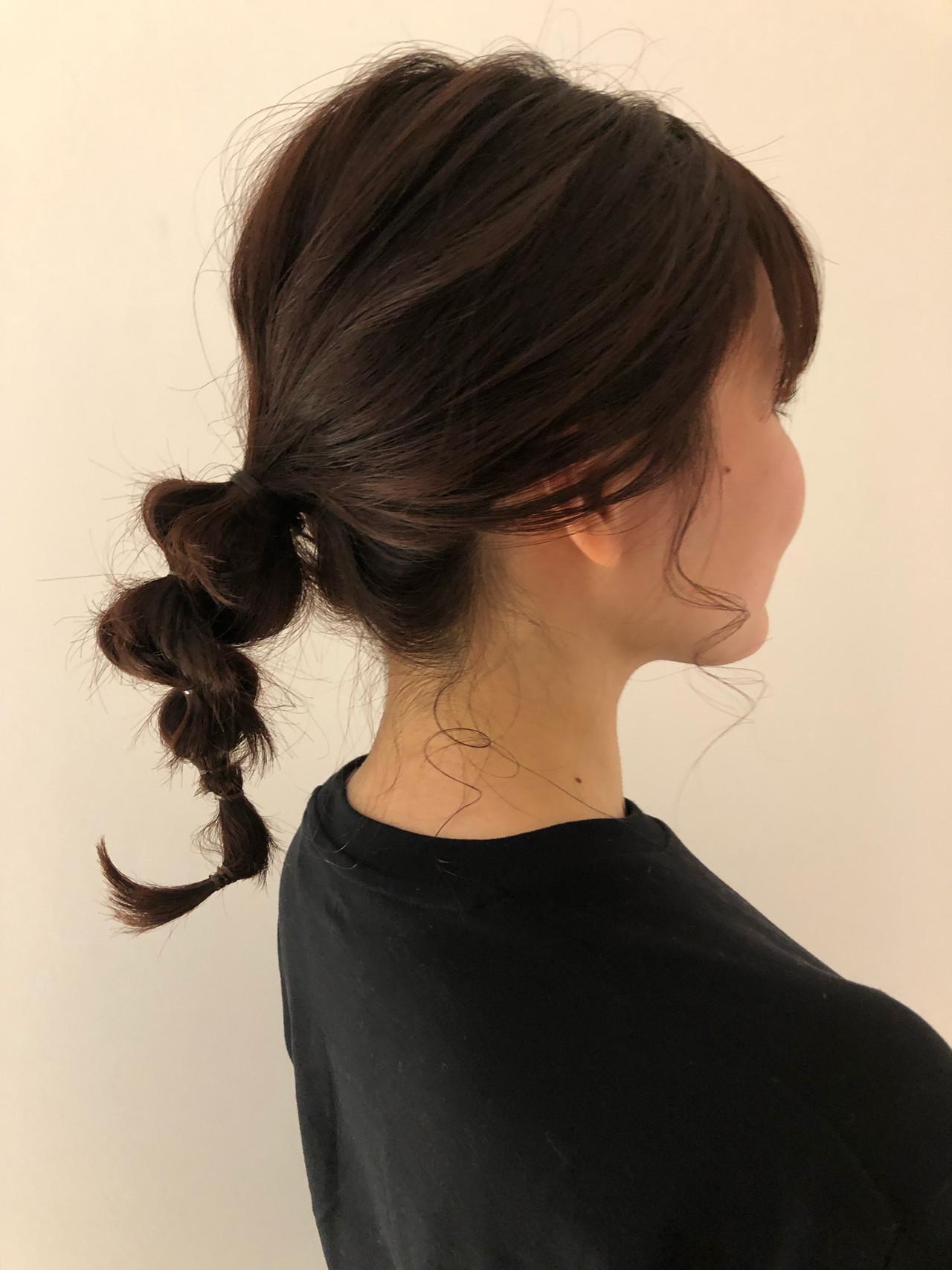 簡単ヘアアレンジ ヘアアレンジ アンニュイほつれヘア ミディアム ヘアスタイルや髪型の写真・画像