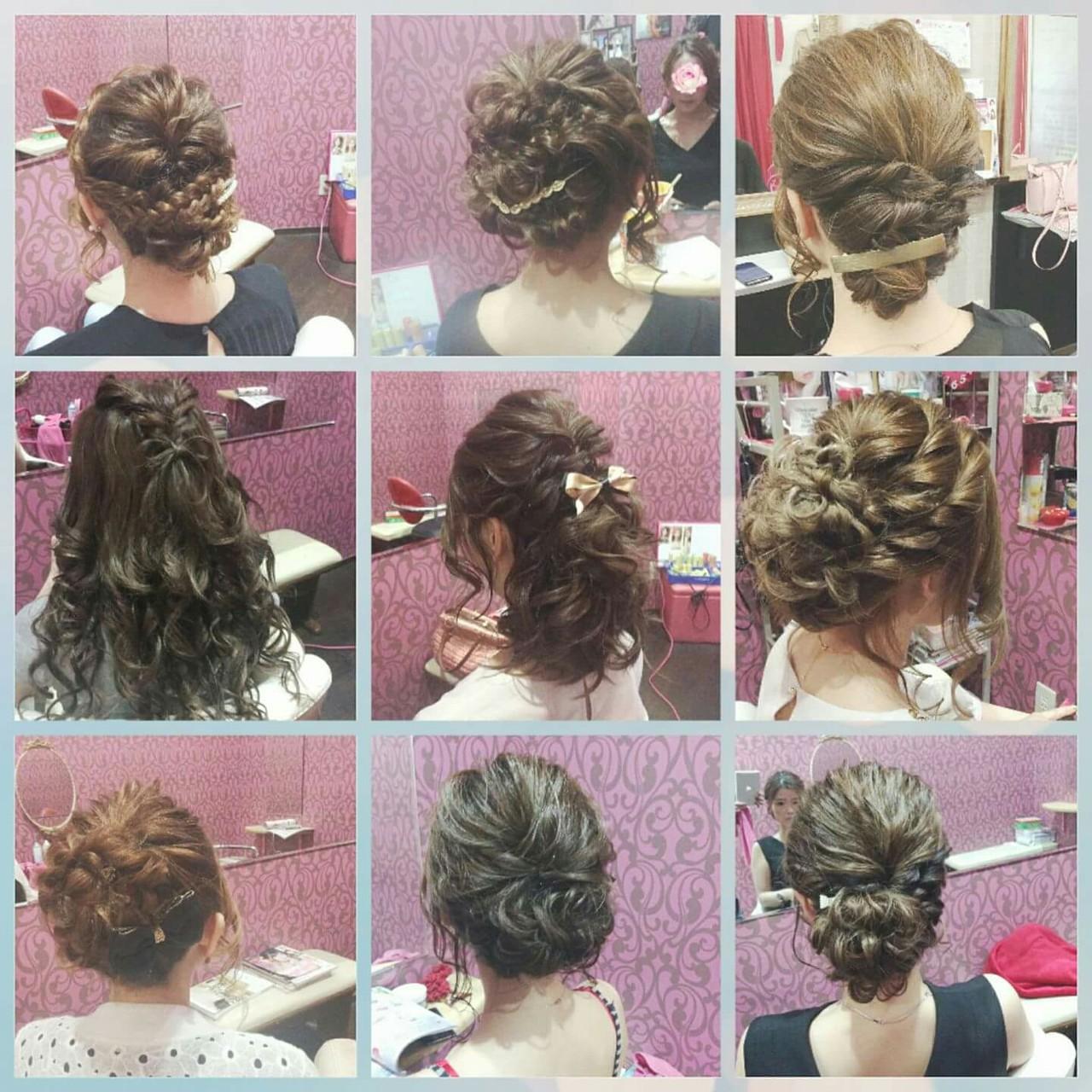 ナチュラル 結婚式 編み込み ヘアアレンジ ヘアスタイルや髪型の写真・画像 | rumiLINKS美容室 / リンクス美容室