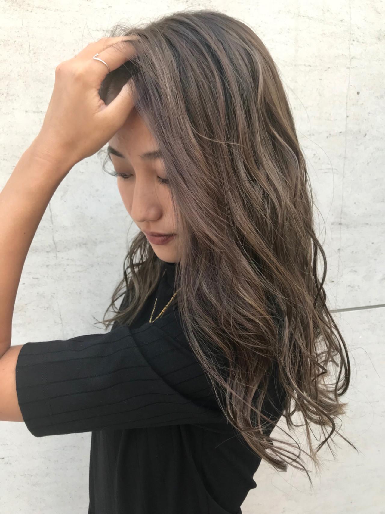 ハイトーン ハイライト 外国人風 アンニュイ ヘアスタイルや髪型の写真・画像