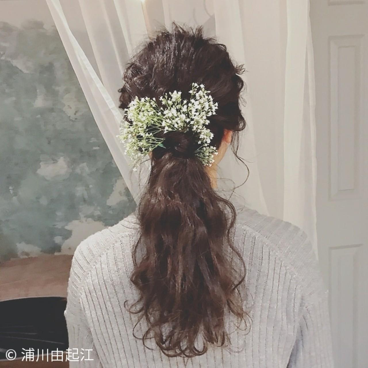 ヘアアレンジ ナチュラル 結婚式 大人かわいい ヘアスタイルや髪型の写真・画像