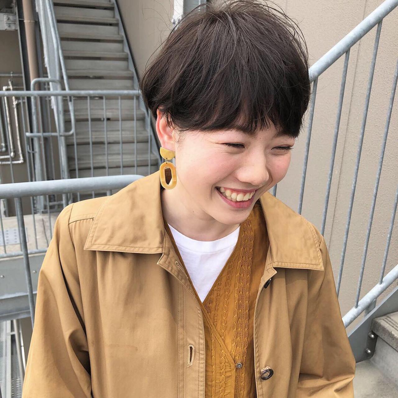 ショート ヌーディーベージュ ナチュラル ナチュラルベージュ ヘアスタイルや髪型の写真・画像 | 坂本圭太朗 / bado