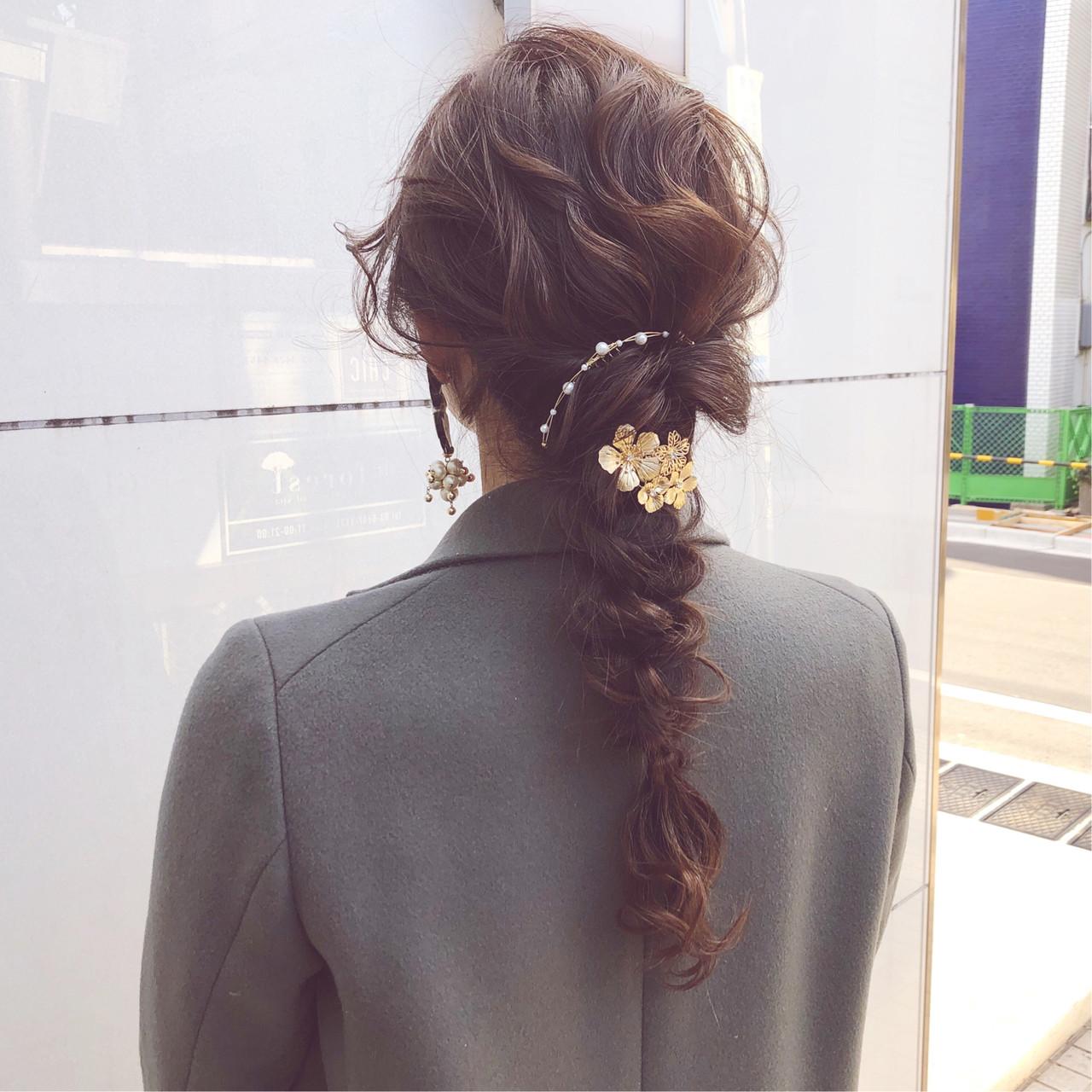 ロング アンニュイほつれヘア デート ヘアアレンジ ヘアスタイルや髪型の写真・画像 | 『ボブ美容師』永田邦彦 表参道 / send by HAIR