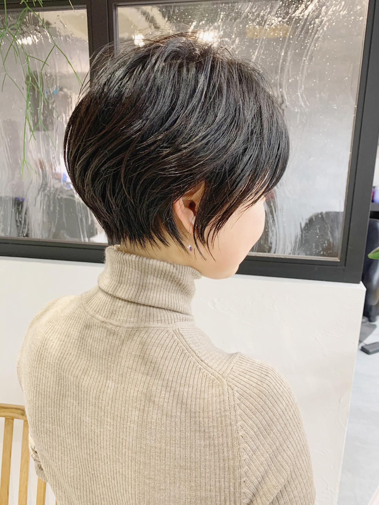 ベリーショート 黒髪 ショートボブ ショートヘア ヘアスタイルや髪型の写真・画像