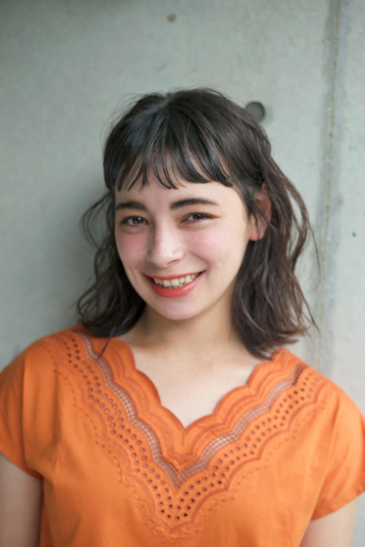 透明感 オン眉 大人かわいい 抜け感 ヘアスタイルや髪型の写真・画像 | 佐脇 正徳 / LOAVE AOYAMA(ローヴ アオヤマ)