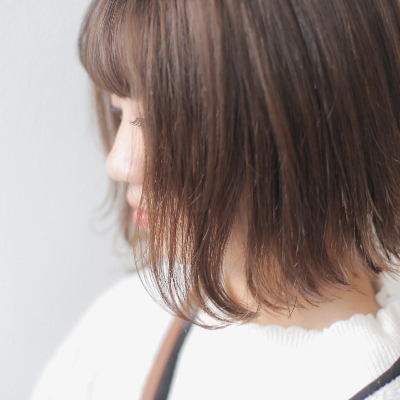 黒髪から1ブリーチでミルクティーベージュ♡ ミルクティーの少しくすんだ柔らかさが ポイント☆