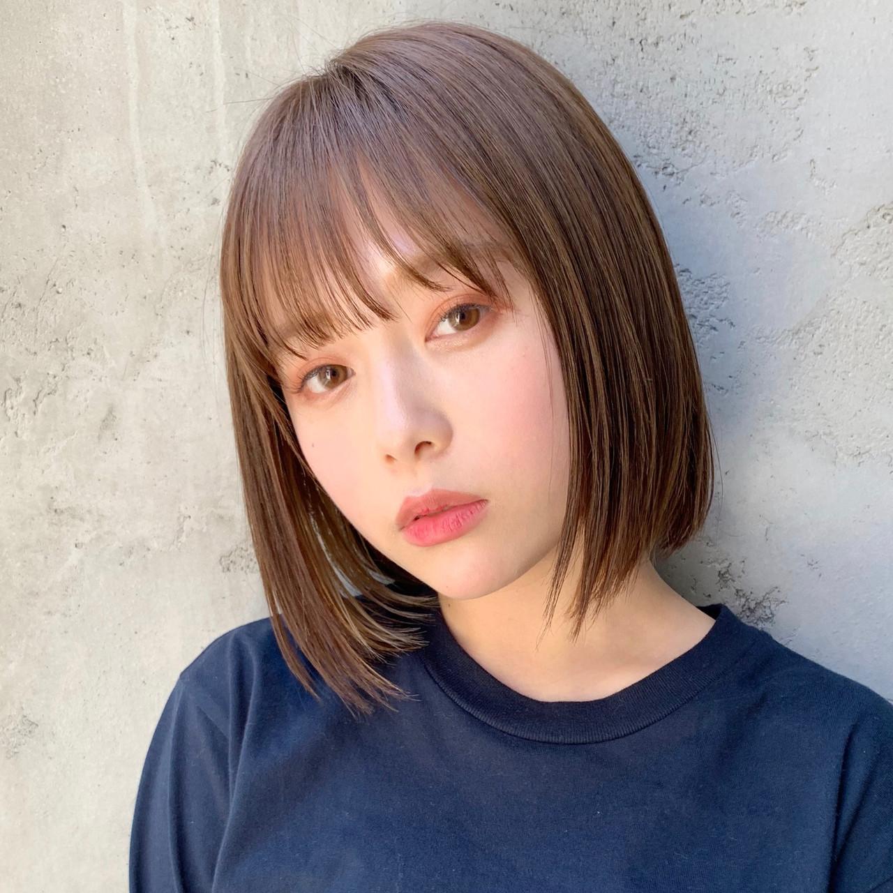ボブ 切りっぱなしボブ ショートヘア ショートボブ ヘアスタイルや髪型の写真・画像   Natsuko Kodama 児玉奈都子 / dydi