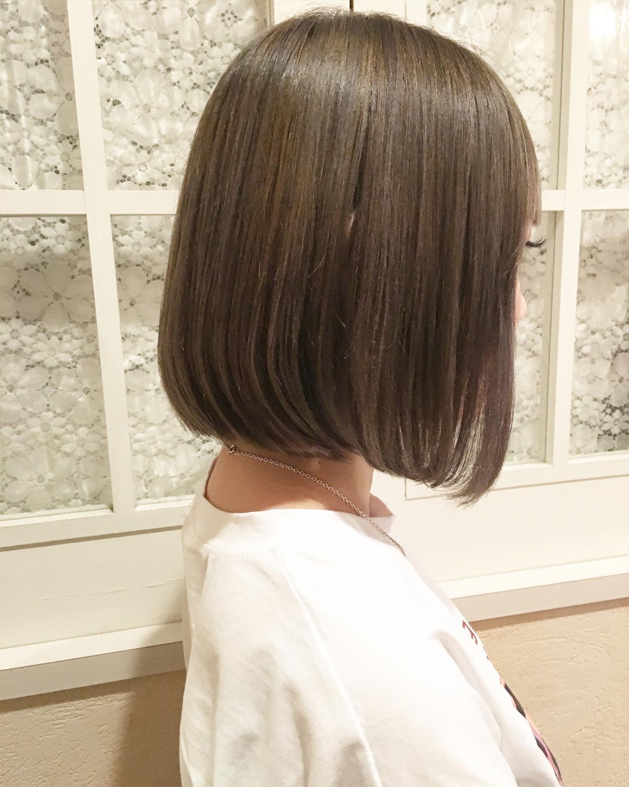 ハイライト 大人ハイライト ナチュラル ショートボブ ヘアスタイルや髪型の写真・画像