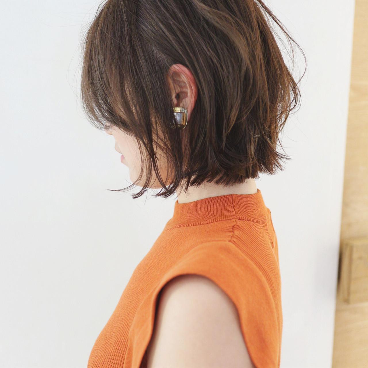 ショートボブ ミニボブ パーマ グラデーションカラー ヘアスタイルや髪型の写真・画像
