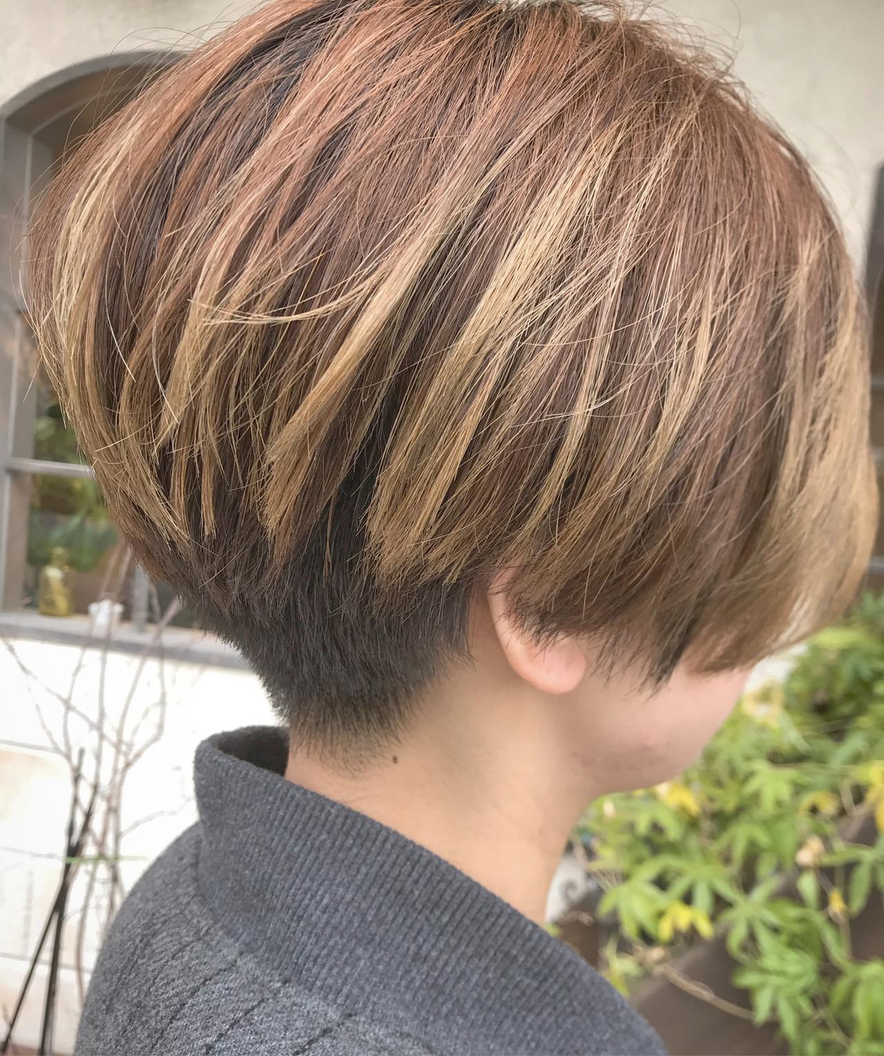 モード ショートマッシュ 刈り上げ女子 ショート ヘアスタイルや髪型の写真・画像 | Nakamura Mari / rocca