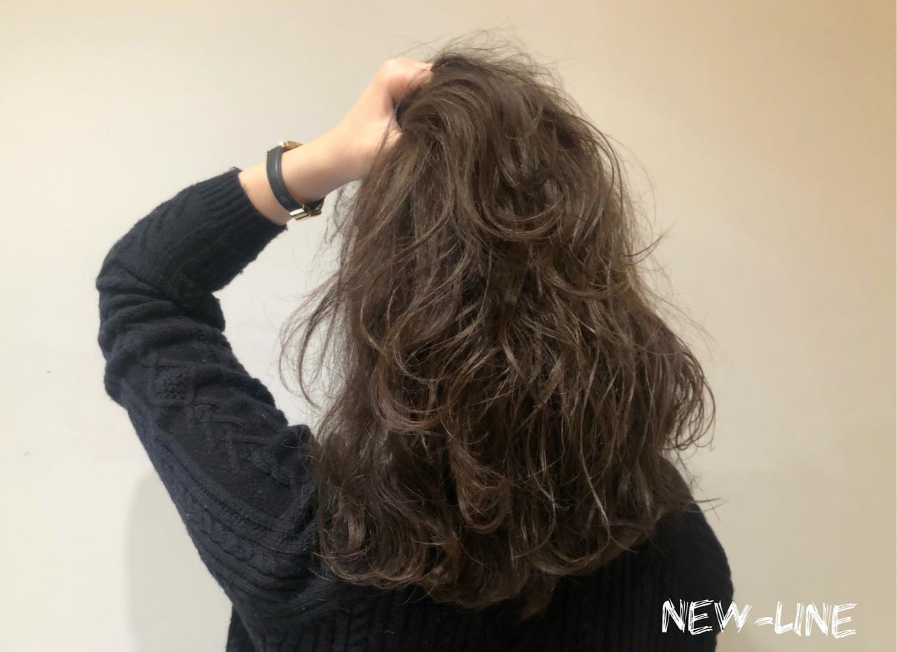 ベージュ 髪質改善トリートメント ミディアム ナチュラル ヘアスタイルや髪型の写真・画像
