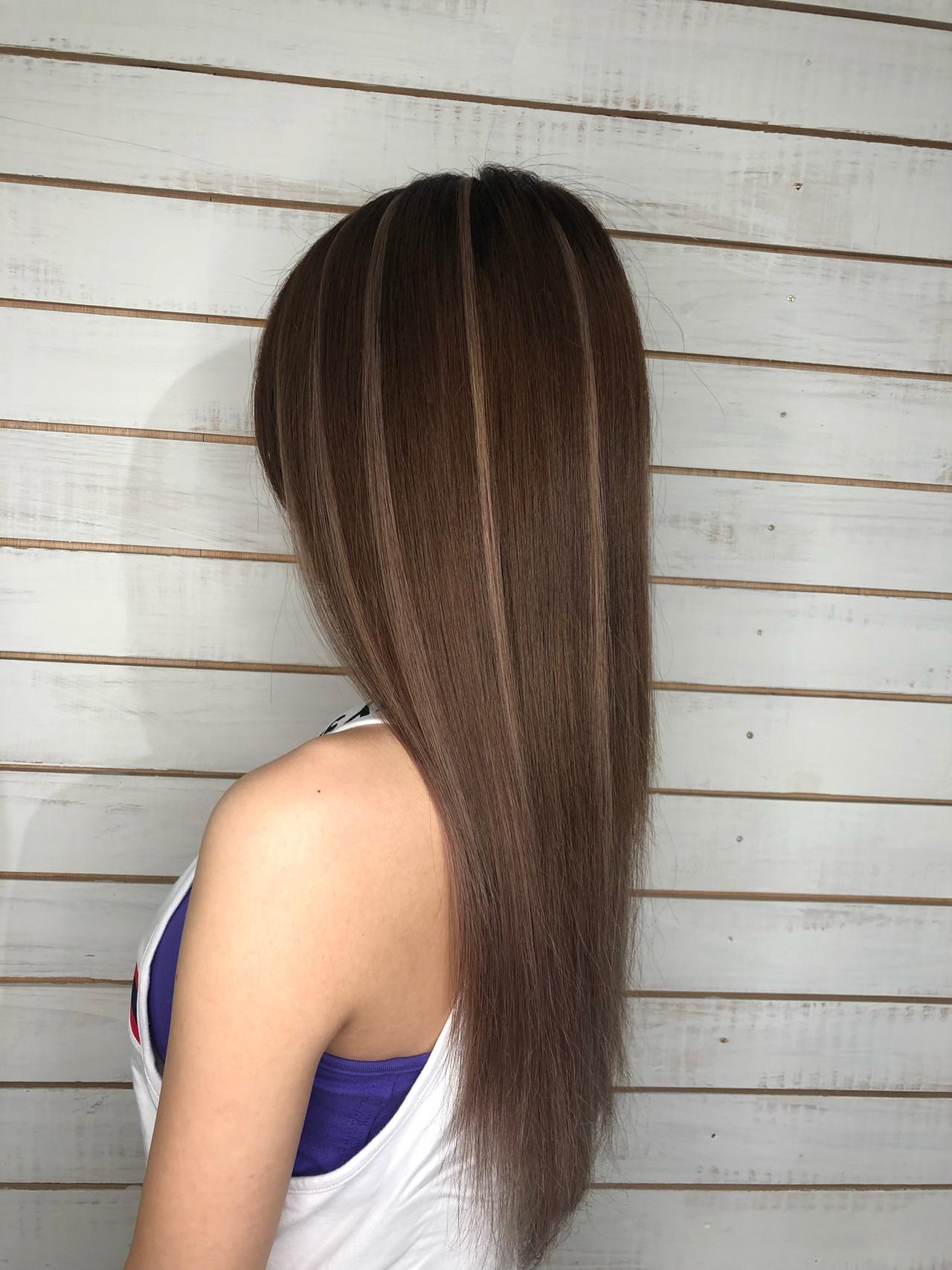 ハイライト ガーリー グラデーション ロング ヘアスタイルや髪型の写真・画像 | 市原由貴 / SKY Resort