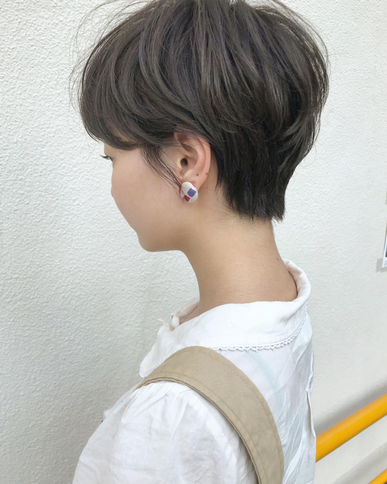 ハイライト 小顔 ショート ナチュラル ヘアスタイルや髪型の写真・画像 | KENTO.NOESALON / NOE SALON