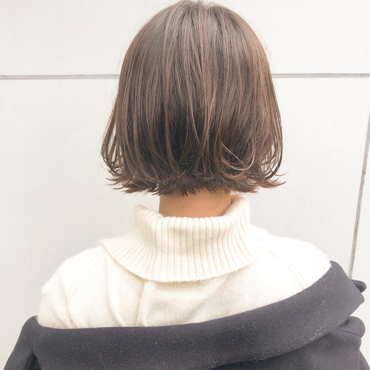 オフィス デート ボブ 簡単ヘアアレンジ ヘアスタイルや髪型の写真・画像 | 『ボブ美容師』永田邦彦 表参道 / send by HAIR