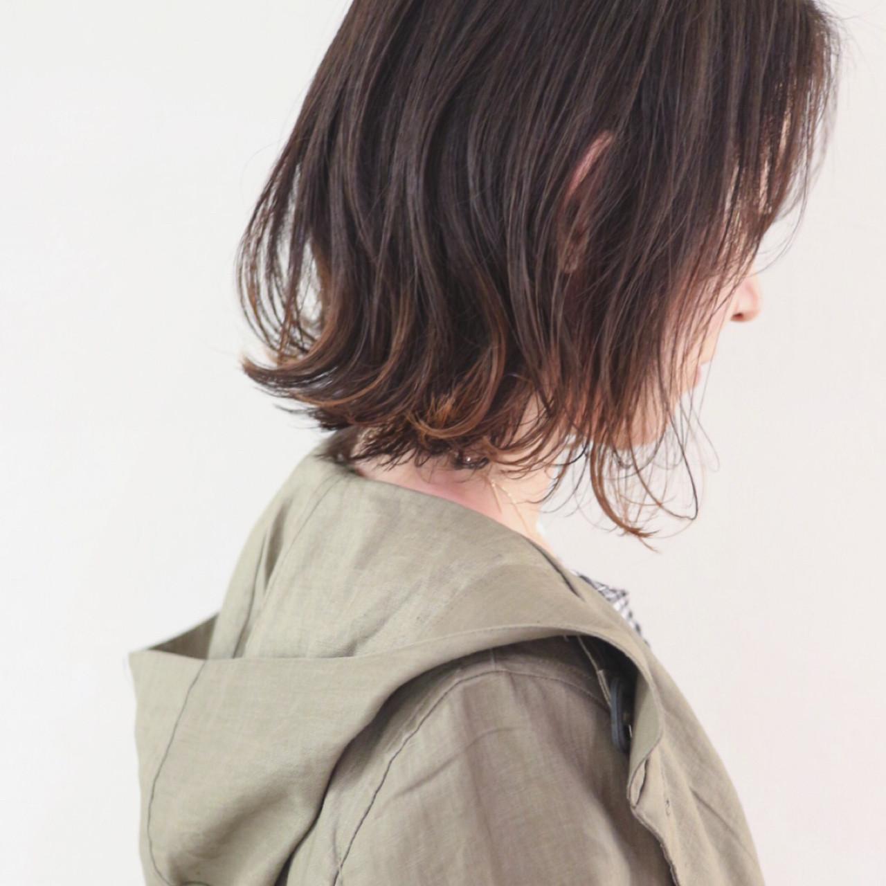 インナーカラー ハイライト ボブ グラデーションカラー ヘアスタイルや髪型の写真・画像