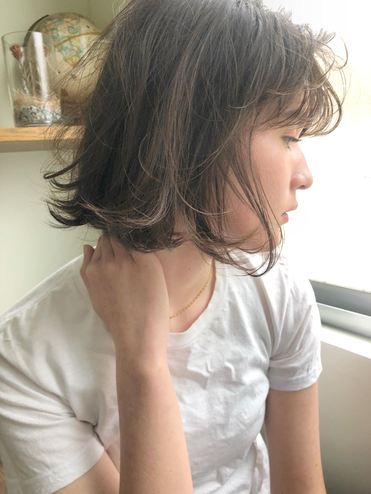 ガーリー ボブ アンニュイほつれヘア スポーツ ヘアスタイルや髪型の写真・画像