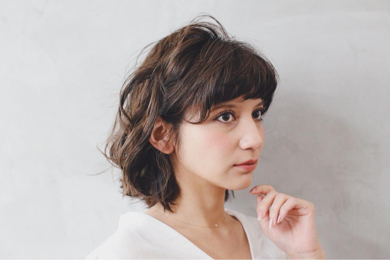 外国人風カラー ボブ 大人かわいい フェミニン ヘアスタイルや髪型の写真・画像