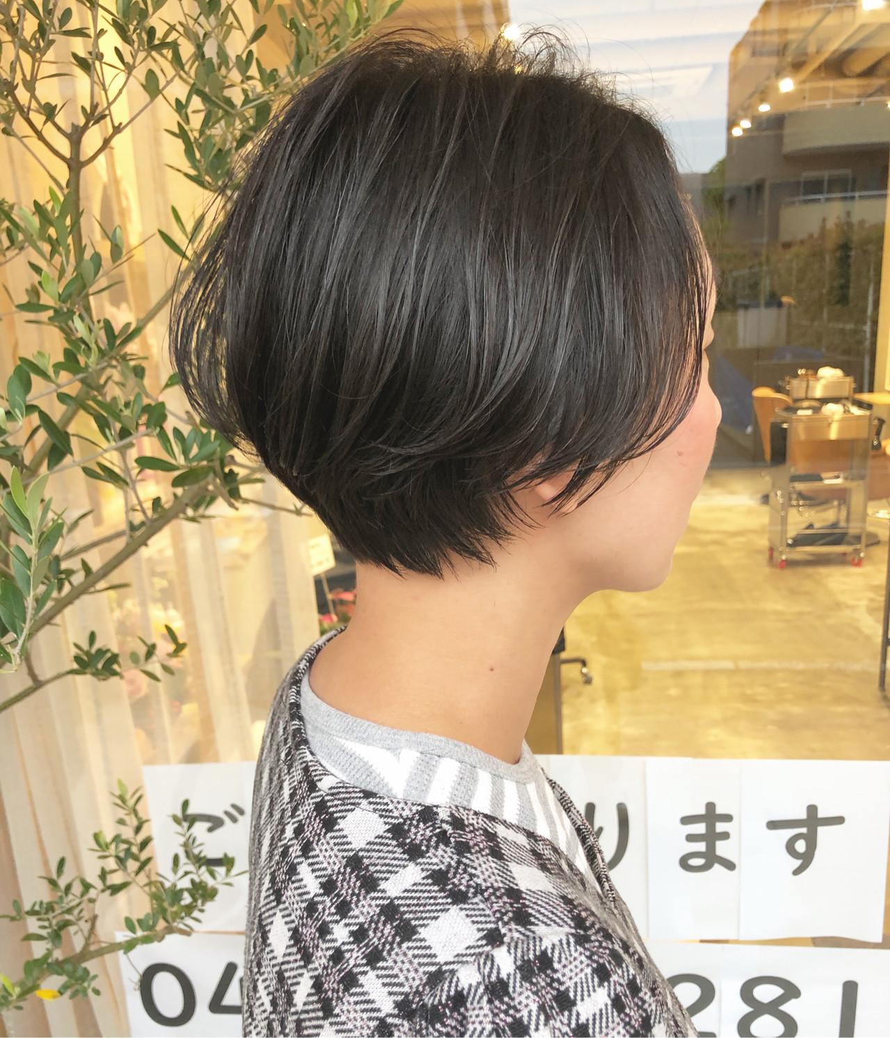 ショートボブ ショートヘア 小顔ショート マッシュショート ヘアスタイルや髪型の写真・画像 | 古関 拓弥 / TREAT HAIR DESIGN