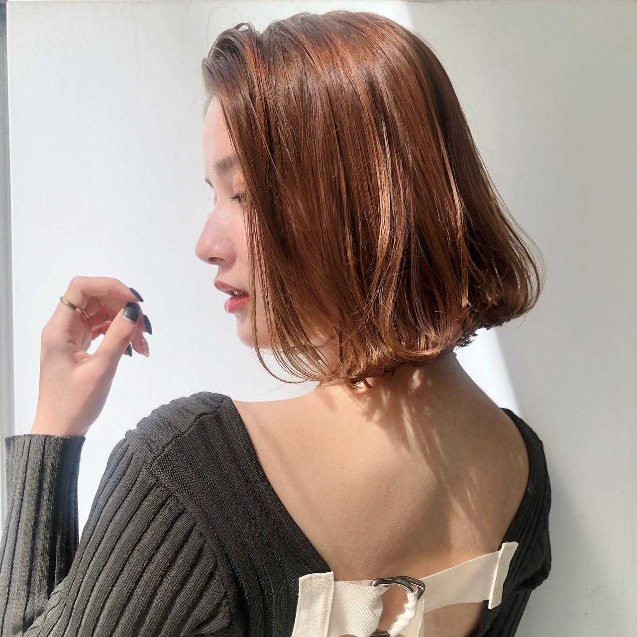 ナチュラル 大人かわいい ミニボブ 小顔 ヘアスタイルや髪型の写真・画像 | MARIA / EMMA GINZA